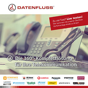 Datenfluss IT Informationsflyer Telekommunikation